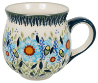 The Medium Belly Mug (Baby Blue Blossoms)
