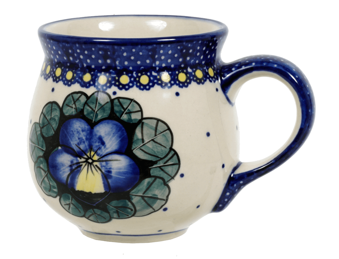 The Medium Belly Mug (Pansies)