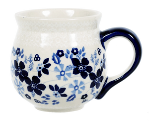 The Medium Belly Mug (Duet Blue Wreath A)