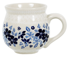 The Medium Belly Mug (Duet Blue Wreath)