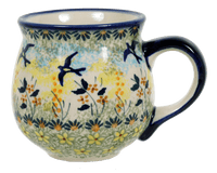 The Medium Belly Mug (Soaring Swallows)