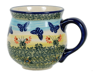 The Medium Belly Mug (Butterflies in Flight)