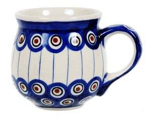 The Medium Belly Mug (Peacock In Line)
