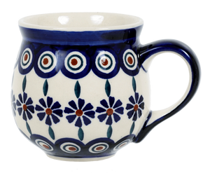 The Medium Belly Mug (Floral Peacock)