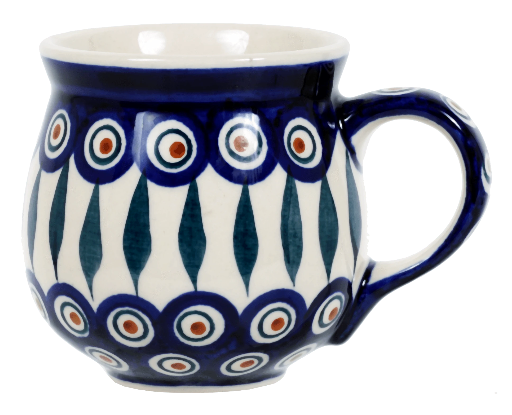 The Medium Belly Mug (Peacock)