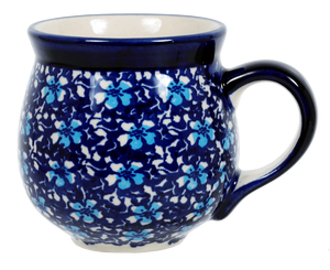 The Medium Belly Mug (Blue on Blue)