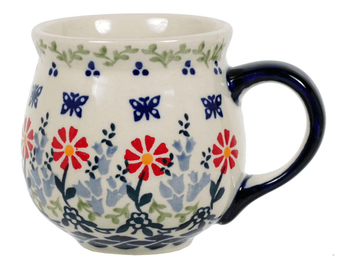 The Medium Belly Mug (Butterfly Blossoms)