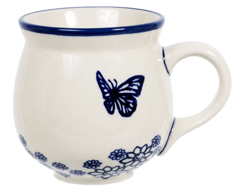 The Medium Belly Mug (Butterfly Garden)