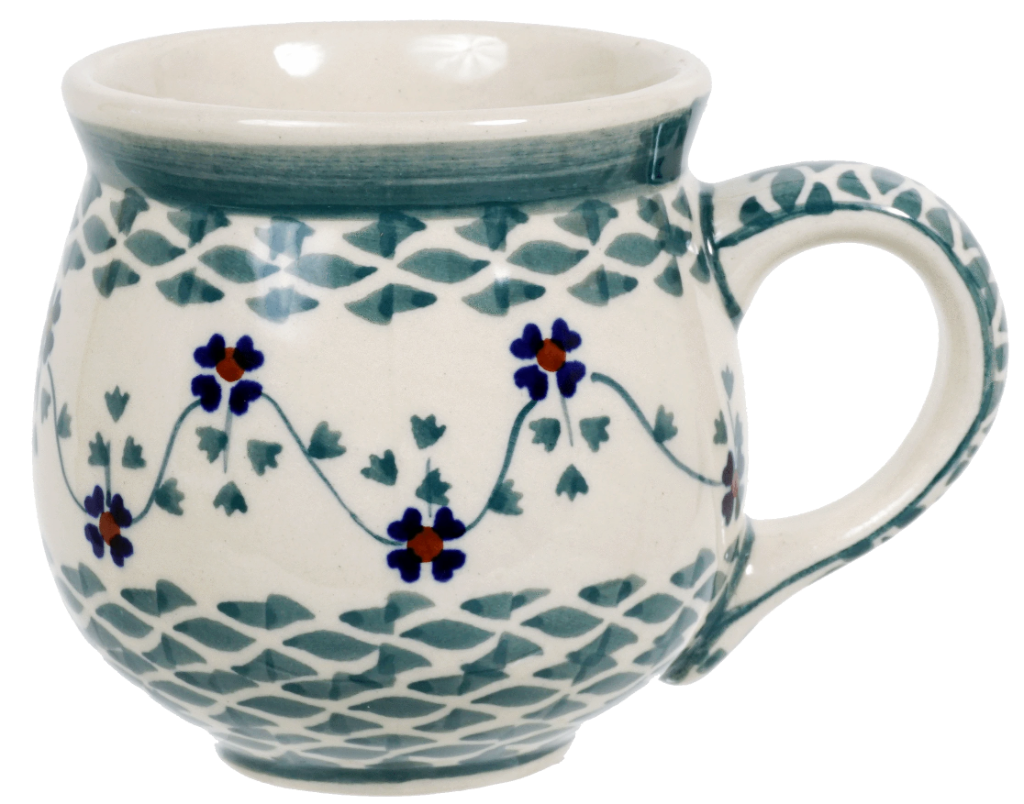 The Medium Belly Mug (Woven Pansies)