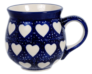The Medium Belly Mug (Sea of Hearts)