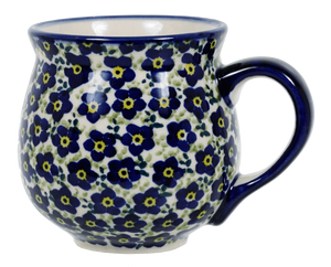 The Medium Belly Mug (Floral Revival Blue)