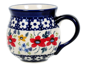 The Medium Belly Mug (Bold Red Blossoms)
