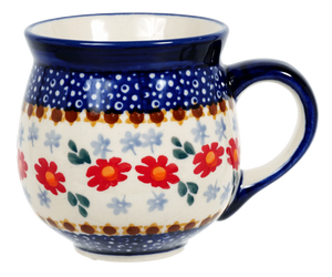 The Medium Belly Mug (Red Daisy Daze)