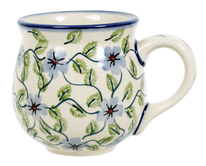 The Medium Belly Mug (Periwinkle Vine)
