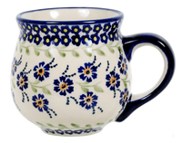 The Medium Belly Mug (Blue Clematis) | K090U-VB03