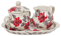 Cream and Sugar Set (Evening Blossoms)