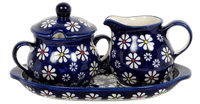 Cream and Sugar Set (Midnight Daisies)