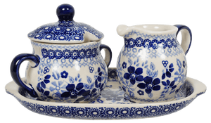 Cream and Sugar Set (Duet in Blue)