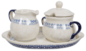 Cream and Sugar Set (Duet in White)