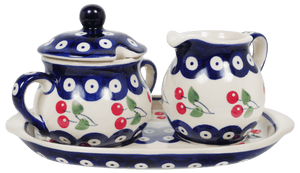 Cream and Sugar Set (Cherry Dot)