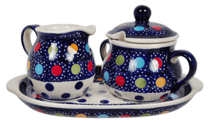 Cream and Sugar Set (Neon Dots)