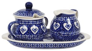 Cream and Sugar Set (Nordic Hearts)