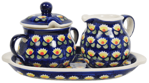 Cream and Sugar Set (Tulip Azul)