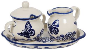 Cream and Sugar Set (Butterfly Garden)