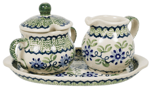 Cream and Sugar Set (Woven Blues)
