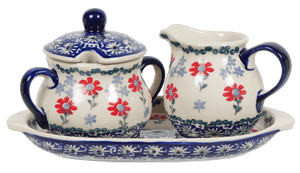 Cream and Sugar Set (Summer Blossoms)