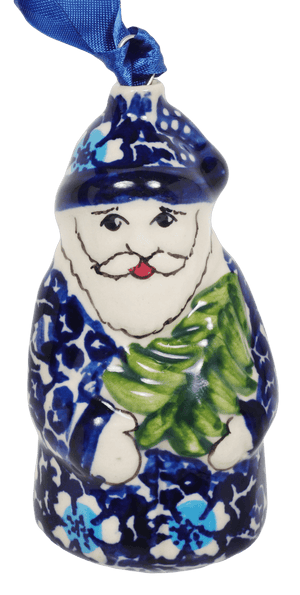 Santa Claus Ornament (Blue on Blue)