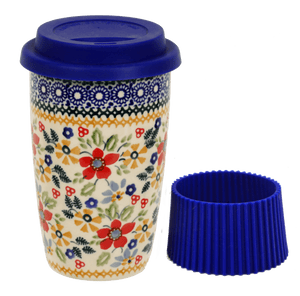 Travel Mug (Ruby Bouquet)