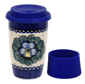 Travel Mug (Pansies)
