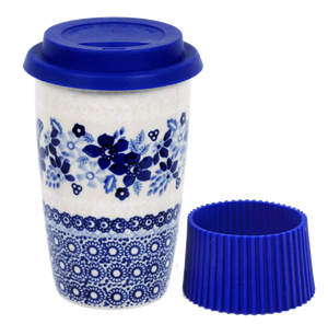 Travel Mug (Duet in Blue & White)