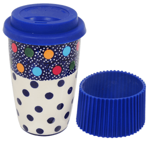 Travel Mug (Neon Dots)