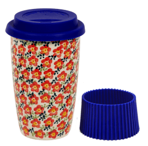 Travel Mug (Floral Revival Red)