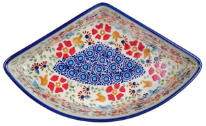 Wedge-Shaped Bowl (Festive Flowers)