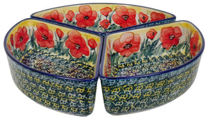 Wedge-Shaped Bowl (Poppies in Bloom)