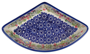 Wedge-Shaped Bowl (Floral Fantasy)