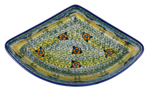 Wedge-Shaped Bowl (Butterflies in Flight)