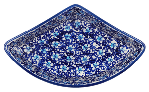 Wedge-Shaped Bowl (Blue on Blue)