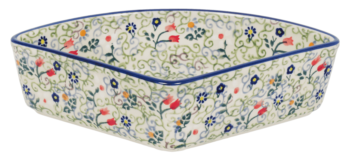 Wedge-Shaped Bowl (Field of Flowers)