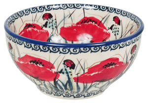 "5.25"" Tapered Bowl (Poppy Paradise)"