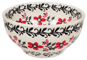 "5.25"" Tapered Bowl (Scarlet Garden)"