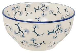 "5.25"" Tapered Bowl (Dusty Blue Blossoms)"