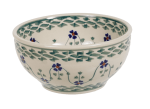 "5.25"" Tapered Bowl (Woven Pansies)"