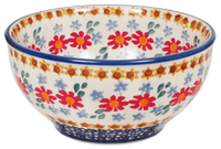 "5.25"" Tapered Bowl (Red Daisy Daze)"