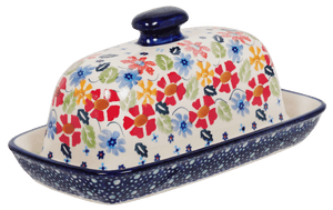 American Butter Dish (Brilliant Bouquet)