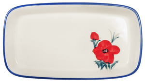 American Butter Dish (Poppies in Bloom)