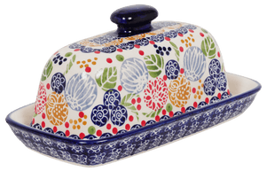 American Butter Dish (Balloon Flowers)